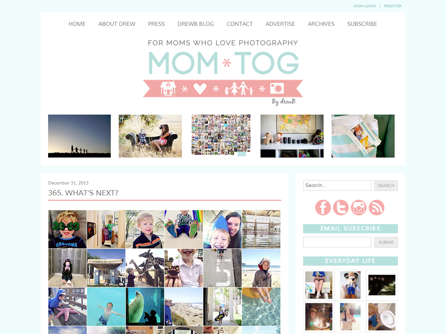 Mom*tog Photography Blog: Pretty Blog Design