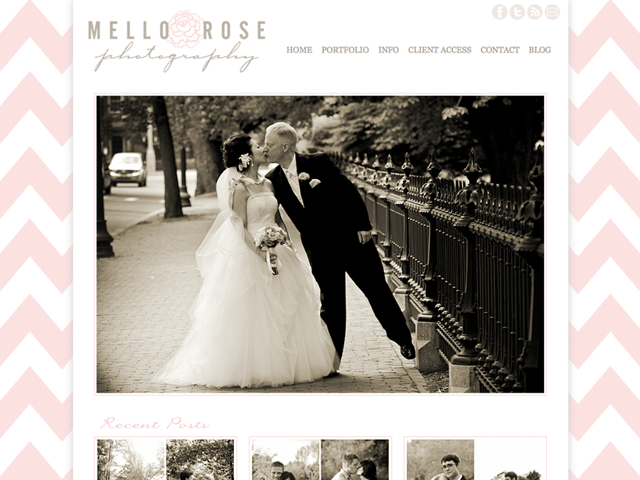 Custom Wordpress Photography Website: Mello Rose Photography