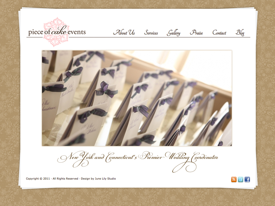 Pretty Wordpress Themes for Small Business: Piece of Cake Events