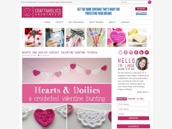 Clean, Modern Blog Design: Craftaholics Anonymous