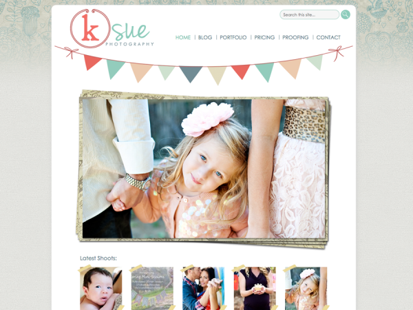 Custom Wordpress Photography Website: KSue Photography