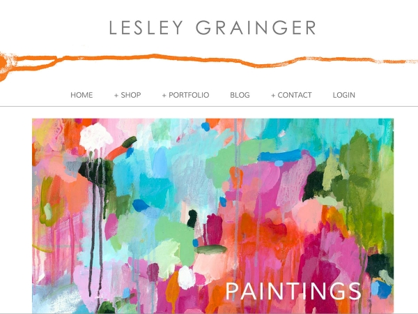 Custom Website Design: Lesley Grainger