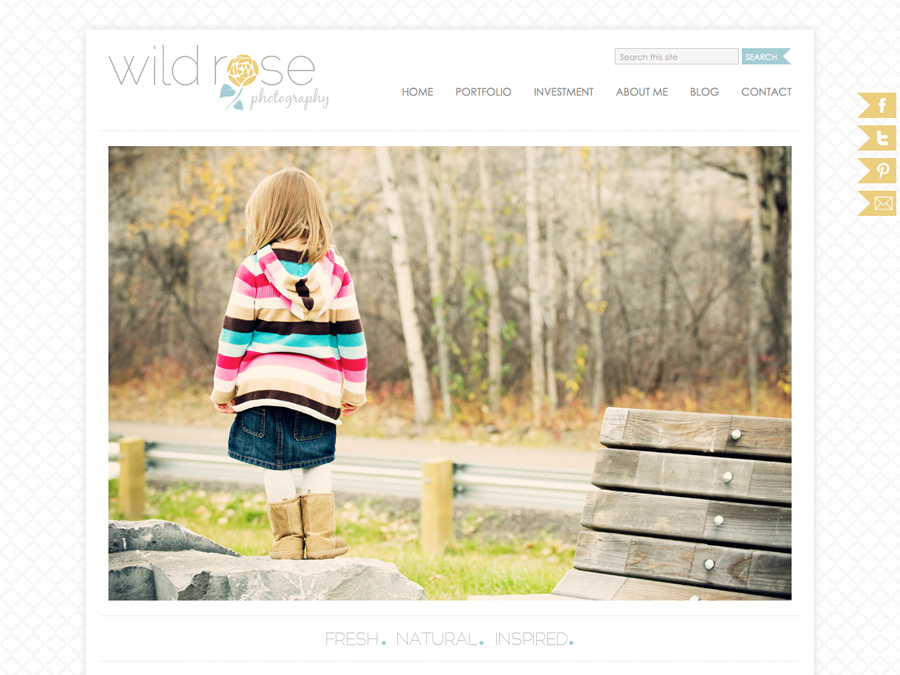 Cute Wordpress Photography Theme: Wild Rose Photography