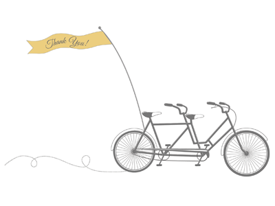 Bike Thank You Card