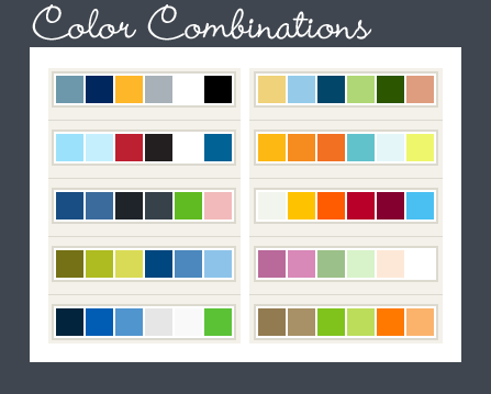 Perfect Color Combinations color resources for website design, logo design and custom design