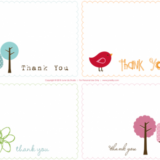 printable thank you notes june lily design illustration and