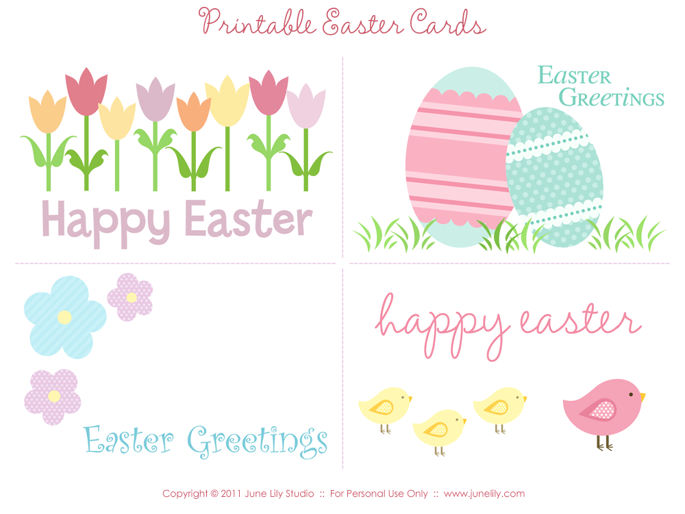 Peaceful image regarding printable easter cards