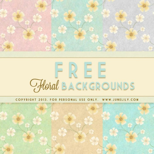 FREE cute vintage floral background