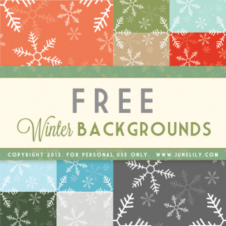 FREE Pretty Snowflake Winter Blog Backgrounds Seamless