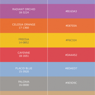 pantone fashion colors 2014