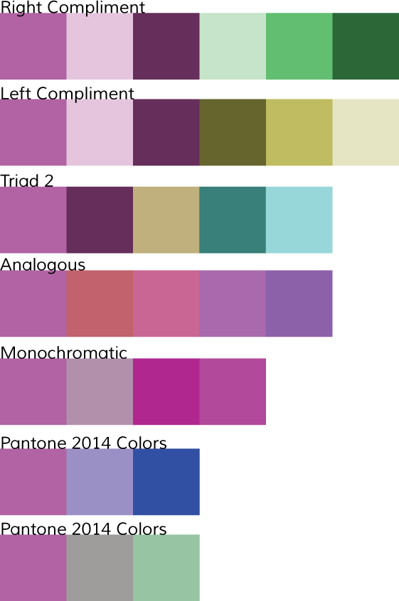 Pantone Color of the Year - Radiant Orchid for Weddings: wedding berkeley color schemes 2 Radiant Orchid Wedding Color Palette What others are saying