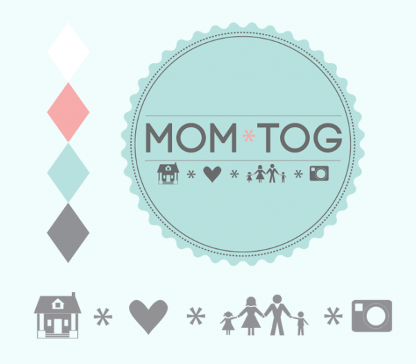 Pretty Custom Branding Design and Logo Accessories for Mom*tog Photography