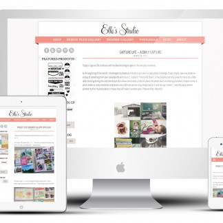 Custom Responsive Blog Design: Elle's Studio