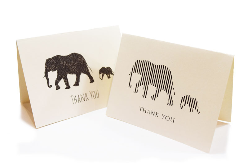 FREE Printable Elephant Thank You Cards | June Lily | Web Design ...