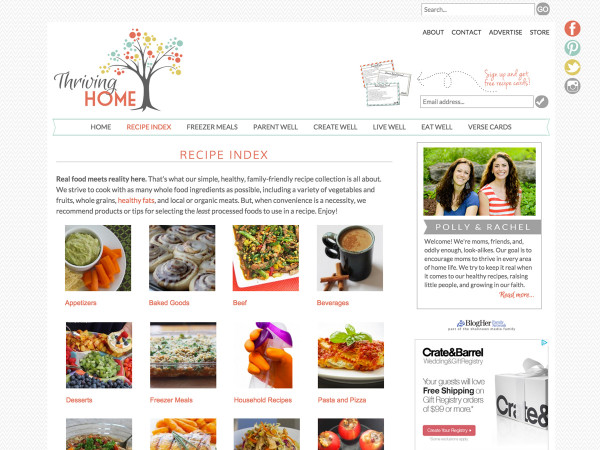 thriving-home-blog-recipe-index-custom-wordpress-theme-design
