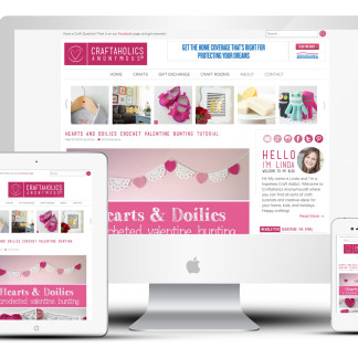 Custom Responsive Blog Design for Craftaholics Anonymous